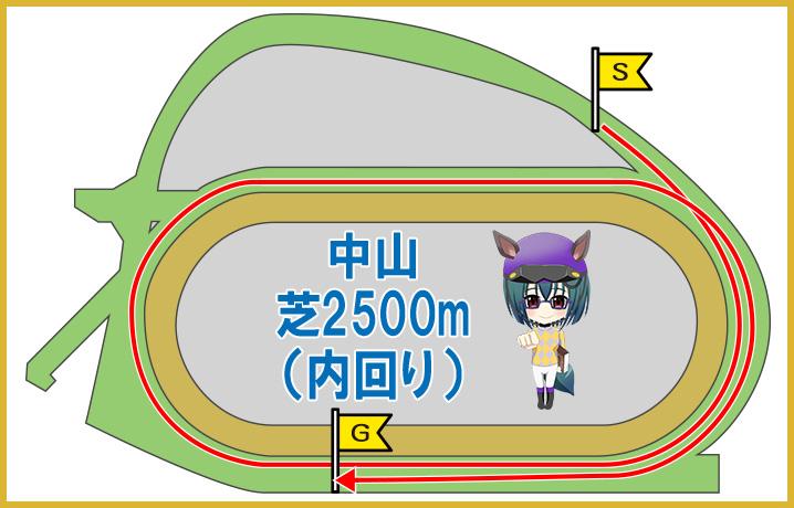 中山芝2500m(内回り)の特徴
