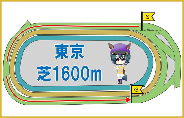 東京芝1600mの特徴