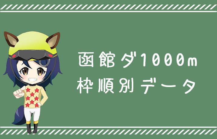 (データ分析)函館ダ1000m枠順別データ