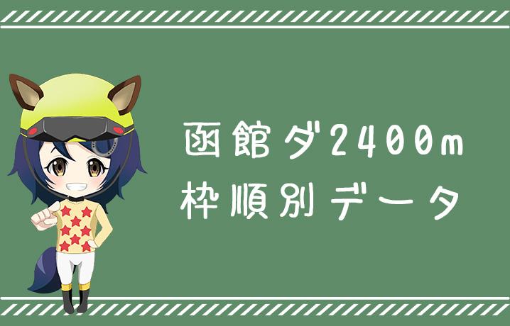 (データ分析)函館ダ2400m枠順別データ
