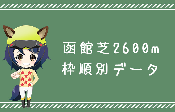 (データ分析)函館芝2600m枠順別データ
