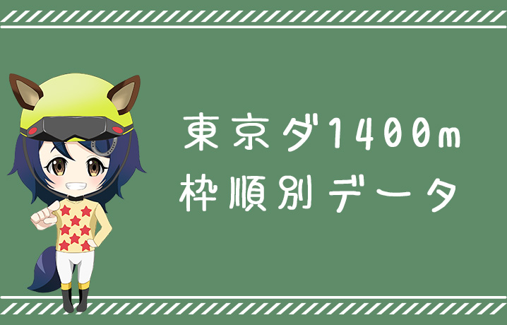 (データ分析)東京ダート1400m枠順別データ