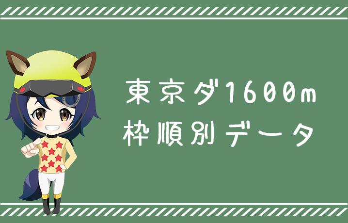 (データ分析)東京ダート1600m枠順別データ