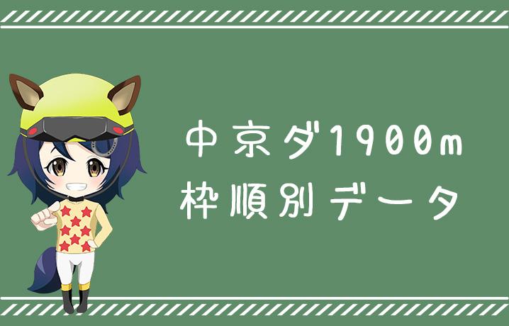(データ分析)中京ダ1900m枠順別データ