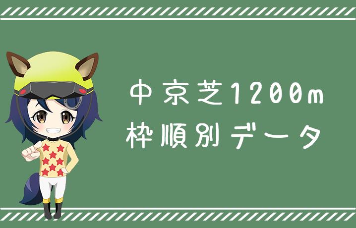 (データ分析)中京芝1200m枠順別データ