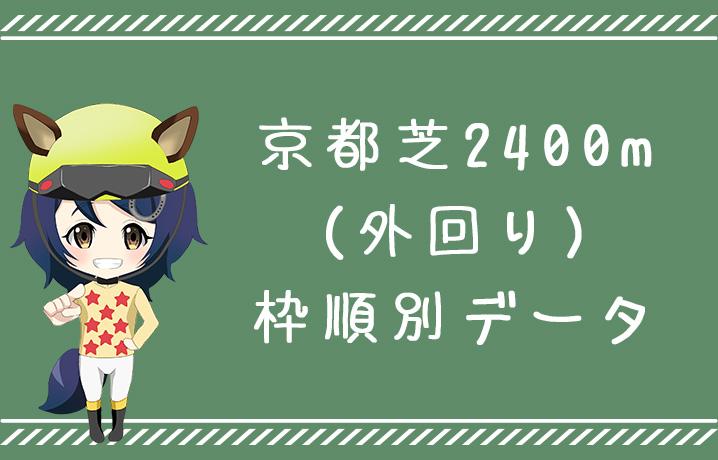 (データ分析)京都芝2400m外回り枠順別データ