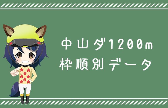 (データ分析)中山ダ1200m枠順別データ