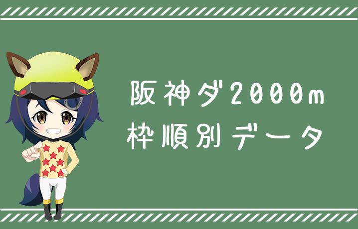(データ分析)阪神ダート2000m枠順別データ