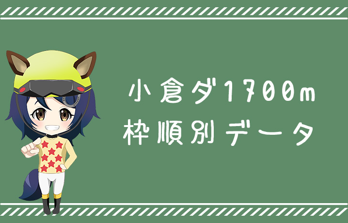 (データ分析)小倉ダート1700m枠順別データ