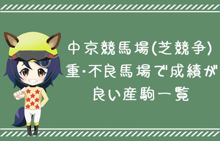 (データ分析)中京競馬場重・不良馬場で成績が良い産駒一覧(芝)